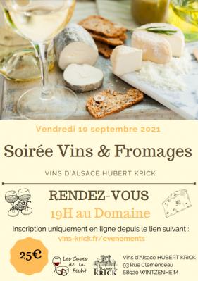 Soirée vins d'Alsace et fromages COMPLET